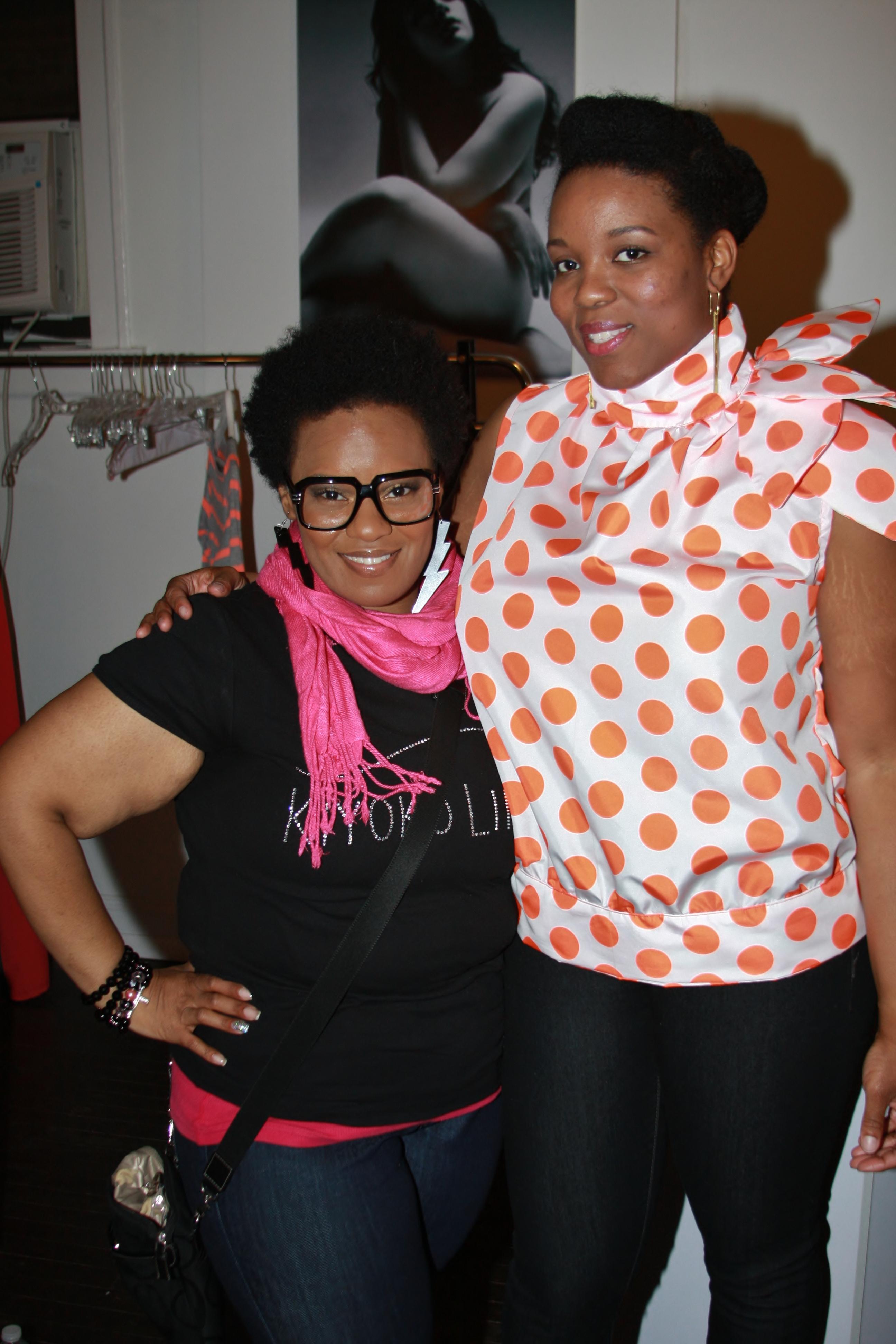 Designer Shemeka Buckner with Model